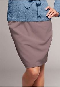 Knielanger Rock / Skirt diagonal ple in taupe Größe 40 NEU (453534)   eBay