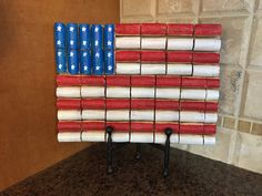 American Flag from Wine Corks by LiteraryCork on Etsy