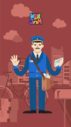 It's mailman with greeting messages to deliver us! What kind of letter would have arrived today?