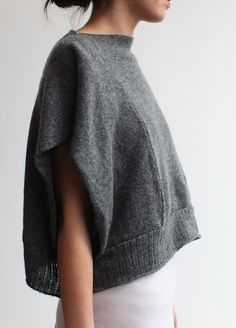 Tejidos - Knitted - the souchi oversized cropped luxe cashmere izzy panel shell - ultra soft and cozy Look Fashion, Diy Fashion, Swag Fashion, Moda Crochet, Diy Kleidung, Diy Clothing, Mode Inspiration, Refashioning, Style Me