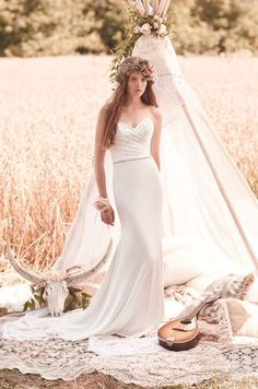 Embroidered Tulle Wedding Dress Style #2052