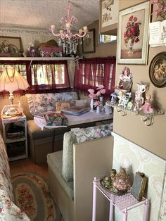 LouLa Belle-a 1974 Shasta 1400 glammed and girlie to the max