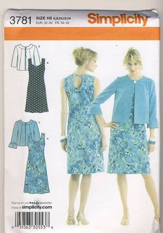 Simplicity 3781 Misses Dress 2 Lengths with by Noahslady4Patterns