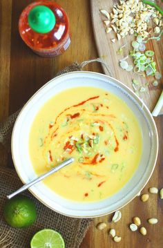 Butternut Squash + Coconut Soup :: Set the Table