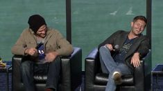 """Nerd HQ 2013 - Jared confesses to watching """"The Saint"""" too many times. Jensen mocks him, and then does his impression of Val Kilmer. Hysterical."""
