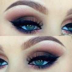 Make-Up: Gorgeous smokey eyes..
