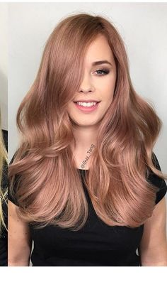 Rose Gold Hair Color 15 The most beautiful hair ideas, the most trend hairstyles on this page. Cabelo Rose Gold, Gold Hair Colors, Hair Colours, Rose Gold Hair Colour, Hair Colour Trends, Light Hair Colors, Brown Blonde Hair, Rose Gold Blonde, Rose Gold Brown Hair