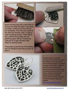 Using Styrofoam To Texture Metal Clay (4PAM_7) - crafthaus