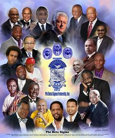 An art print by Wishum Gregory featuring famous members of Phi Beta Sigma Fraternity, Inc. The perfect gift for any new or existing member of Phi Beta Sigma. Phi Beta Sigma, Alpha Phi Alpha, James Weldon Johnson, Divine Nine, Sorority And Fraternity, African American Art, American History, The Brethren, First Art