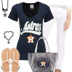 Cute Houston Astros Outfit - http://cutesportsfan.com/astros-white-and-blue/
