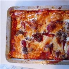 #recipe #food #cooking Grandma's Best Ever Sour Cream Lasagna