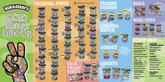 2010 Ben & Jerry's Flavor Line-Up (FRONT)