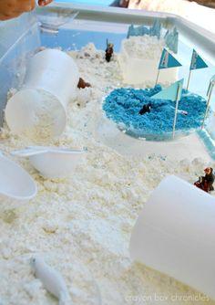 Snow Dough Arctic Sensory Bin