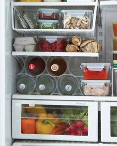 Hanging shelf in the fridge
