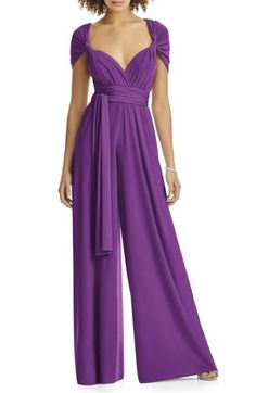 Main Image - Dessy Collection Convertible Wide Leg Jersey Jumpsuit (Regular & Plus)