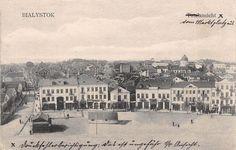 Rynek Kościuszki (Bazarna), Białystok - 1910 rok, stare zdjęcia