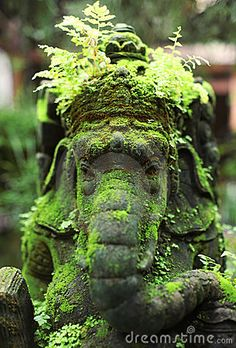 Photo about Close up of statue of the Ganesha, indian idol. Image of asian, ganesha, lord - 10337788 Garden Statues, Garden Sculpture, Buddha Sculpture, Garden Art, Indoor Garden, Garden Ideas, Garden Inspiration, Bali, Garden Decorations
