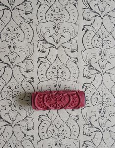 Damask Patterned Paint Roller No.7 from by patternpaintrollers