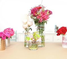Use coffee cans, rubber bands, and bubble wrap to create unexpected, whimsical DIY centerpieces.