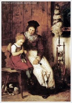 kykolnik | Рукоделие в живописи. За вязанием... 4