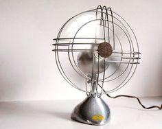 Vintage Fan Art Deco Zephyr Airkooler Chrome
