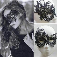 Sexy Lace Masquerade Black Eye Mask