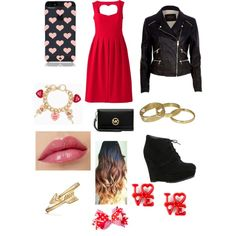 Valentines day outfit by leticiacamacho on Polyvore featuring River Island, ALDO, MICHAEL Michael Kors, Scotch & Soda, Bling Jewelry and Kate Spade