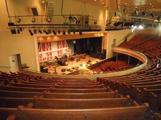 View of the stage at the Ryman Auditorium from the balcony - Nashville Tennessee