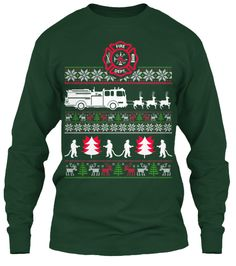 Ugly Christmas Sweater - Firefighter