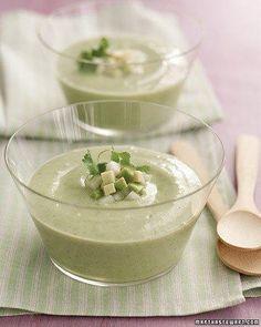 Chilled Avocado-Cucumber Soup Recipe