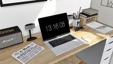 "• Apple MacBook Pro 2016 15.4"" Functional • Apple MacBook Pro 2016 15.4"" Deco • Apple iPhone X Deco • Enamel Coffee Mug • IKEA Alex-Adils Desk • Yeezy Boost 350 Box • West Elm Slope Chair Recolors (..."