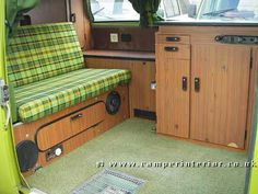 1976 VW T2 Westfalia Berlin -- My bus' interior was exactly like that... before I modified it.