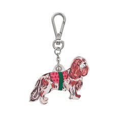 We're barking mad for this adorable charm, featuring a Cavalier King Charles spaniel from our Sketchbook Dogs print. Use the handy attachment to clip this perfect pup to your bag or keys. King Charles Spaniel, Cavalier King Charles, Cath Kidston, Hunting Dogs, Dog Design, Pup, Charmed, Gifts, Gift Ideas