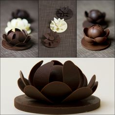 Handcrafted chocolate flowers. Gorgeous for events