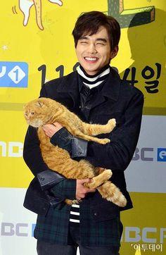 Yoo Seung Ho and Plump Tabby Melt Hearts at the Imaginary Cat Press Conference | A Koala's Playground