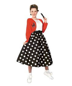 Look at this Polka Dot Rocker Costume Set - Women on #zulily today!