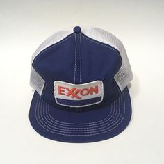 ddf43ec5a59 K Brand Snapback Hat Exxon Patch USA Trucker Cap American Farming Snap Back  Blue Hats For