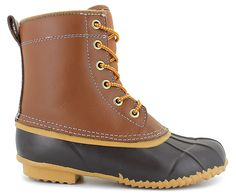 The Stormy Mountain� Campus Boot Will Keep Your Feet Warm and Cozy<br/>synthetic and rubber upper, contrast stitching accents, faux fur footbed with soft fabric inside lining, lace-up front with a pull-tab on the heel, rubber gripping outsole