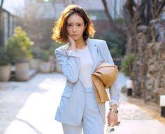 Classic Shoulder Padded Suit Jacket