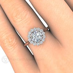 Image result for cluster halo engagement ring