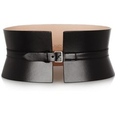 Alaïa Wide leather waist belt ($1,312) ❤ liked on Polyvore
