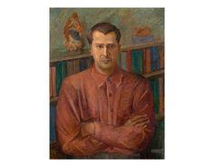 Tarsila do Amaral - RETRATO DE LUÍS MARTINS I, 1933-1937, óleo sobre tela, 80x60 cm, (P125), Banco Itaú S.A., SP, SP