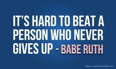 Baseball | never give up fitspo baseball fitness healthy motivation inspiration