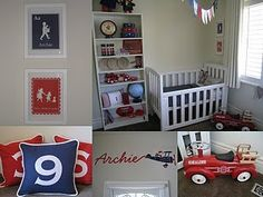 Red, White & Blue Bedroom