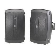 Yamaha NS-AW150BL 2-Way Indoor/Outdoor Speakers (Pair, Black)