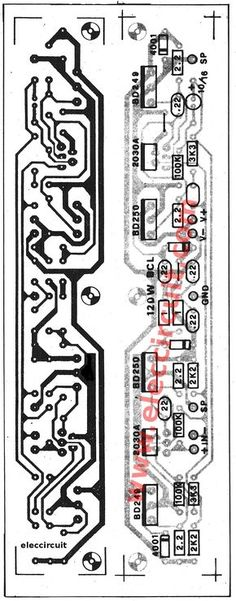 This be Super Bridge 120W Power Amplifier by IC TDA2030 for you like the circuit amplifies that use the integrated circuit. and Transistor BD249 or TIP31