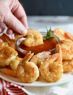 Easy Crispy Pan-Fried Shrimp are fresh, succulent, briny Gulf shrimp, lightly coated with flour and pan-fried in a small amount of olive oil until they are golden brown and delicious. Deep Fried Shrimp, Fried Shrimp Recipes, Best Shrimp Recipes, Breaded Shrimp, Shrimp Dishes, Fish Recipes, Seafood Recipes, Cooking Recipes, Cooked Shrimp