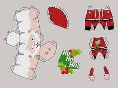 template of santa papercraft