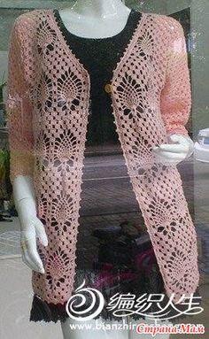 T-shirt Au Crochet, Crochet Bolero Pattern, Pull Crochet, Gilet Crochet, Mode Crochet, Knit Cardigan Pattern, Crochet Cardigan Pattern, Crochet Shirt, Crochet Jacket