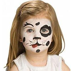 Dalmation Face Painting - Halloween Face Art